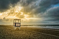 Ocean City Lifeguard Stand at Sunrise Royalty Free Stock Photo