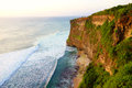 Ocean and cliffs at uluwatu bali indonesia Stock Images