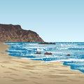 Ocean coast with rock
