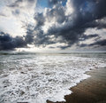 Ocean and dramatic sky Stock Image