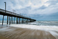 Ocean Front in Virginia Beach, Virginia during a Warm Fall Day Royalty Free Stock Photo