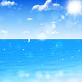Ocean glitters summer blue romatic view at in tropics Stock Photography