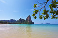 Ocean lagoon on the coast of the Krabi Stock Photo