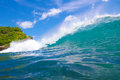Ocean landscape picture of wave bali indonesia Royalty Free Stock Photo