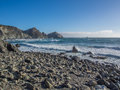 The ocean in pacific coastline big sur on highway ca usa Royalty Free Stock Photography
