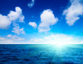 Ocean and perfect sky Stock Images