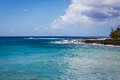 Ocean at Poipu Beach In Hawaii Royalty Free Stock Photo