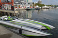 Ocean Power Racing Boat Stock Photos