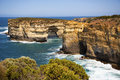 Ocean scenics great bight in victoria australia rugged cliff edges and rough seas making it a scenic place to visit Royalty Free Stock Image
