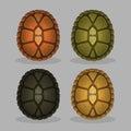 Ocean sea turtle shells