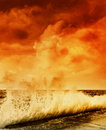 Ocean storm Royalty Free Stock Images