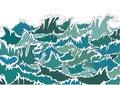 Ocean Storm Green Waves