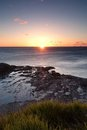 Ocean sunrise at wollongong Royalty Free Stock Photo