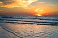 Ocean sunset florida on a gulf coast beach Stock Photography