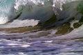 Ocean Surf (Wave) Crashing Onshore Royalty Free Stock Photo