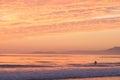 Ocean Swimmer  Sunset Royalty Free Stock Photo