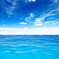 Ocean travel tropical quad composition Royalty Free Stock Images