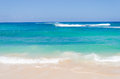Ocean and tropical sandy beach background Royalty Free Stock Photo