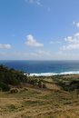 Ocean view barbados of from hills in Stock Photo
