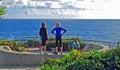 Ocean view from Crescent Bay Point Park. Laguna Beach, California. Royalty Free Stock Photo