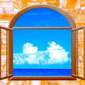 Ocean view window Royalty Free Stock Photo