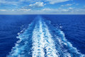 Ocean Wake from Cruise Ship Royalty Free Stock Photo