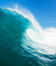 Ocean wave beautiful tropical blue Royalty Free Stock Photo