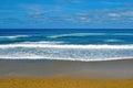 Ocean waves on the beach Stock Photos