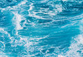 Ocean Waves Blue Background