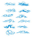 Ocean waves set Stock Images