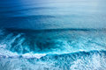 Ocean waves view of indian bali island indonesia Royalty Free Stock Image