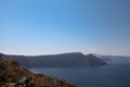 Oceanfront on santorini island in the cyclades greece Stock Image