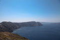 Oceanfront on santorini island in the cyclades greece Royalty Free Stock Images