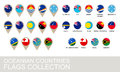Oceania countries flags collection version Royalty Free Stock Photo