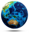 Oceania real relief modified maps lighting and materials earth globe model courtesy of nasa Stock Images