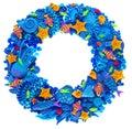 Oceanic wreath fish