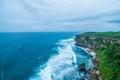 Oceanscape sea and land at ulu batu bali indonesia Stock Photos