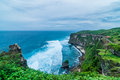 Oceanscape sea and land at ulu batu bali indonesia Royalty Free Stock Photos