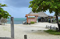 An oceanside bar in San Pedro, Belize Royalty Free Stock Photo