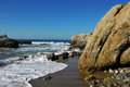 Oceanside beach and rocks at leo carill near malibu in california usa Stock Image