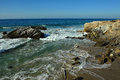 Oceanside beach and rocks at leo carill near malibu in california usa Royalty Free Stock Photography
