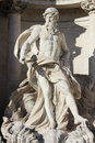 Oceanus in the trevi fountain of rome italy Royalty Free Stock Photos