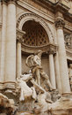 Oceanus with Trition Calming Horse Statues, Trevi Stock Photos