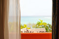 Oceanview room at a resort in cuba Royalty Free Stock Photo