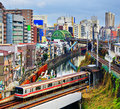 Ochanomizu tokyo subway enters a tunnel at district of japan Royalty Free Stock Photography