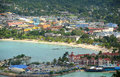 Ocho rios jamaica aerial view from the top of mystic mountain Stock Images