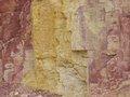Ochre pits in the west macdonnell ranges a colourful outcrop of on banks of a sandy creek northern territories Royalty Free Stock Photography