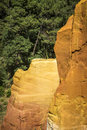 Ochre Rocks or Carriere d`Ocre at Roussillon Royalty Free Stock Photo