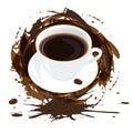 Ochtend zwarte koffie Royalty-vrije Stock Afbeeldingen