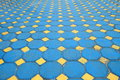 Octagon brick floor tile Stock Photo